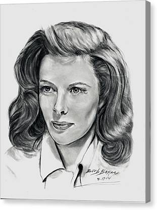 Young Katherine Hepburn Canvas Print by Barb Baker