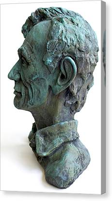 Young Lincoln -sculpture Canvas Print by Derrick Higgins