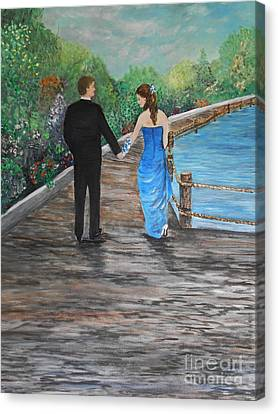 Young Love Canvas Print by Rhonda Lee