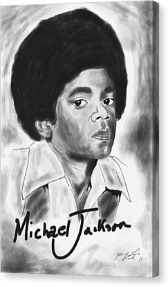 Young Michael Jackson Canvas Print by Kenal Louis
