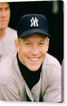 Mickey Mantle Smile Canvas Print