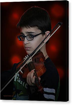 Young Musician Impression # 3 Canvas Print
