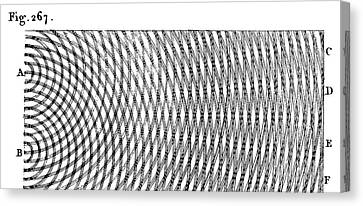 Young On Wave Interference Canvas Print