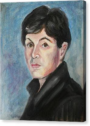 Young  Paul Mccartney Canvas Print by Melinda Saminski