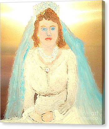 Young Queen Elizabeth 1 Canvas Print by Richard W Linford
