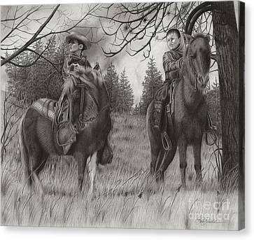 Young Rough Riders Canvas Print