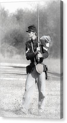 Young Soldier Canvas Print by Athena Mckinzie