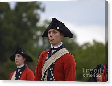 Young Soldiers In Colonial Williamsburg Virginia Canvas Print