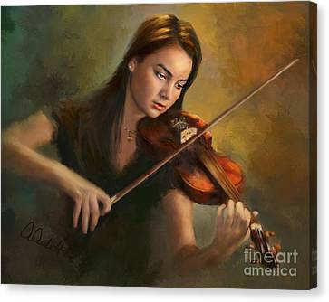 Young Soloist Canvas Print by Andrea Auletta