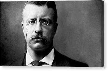Young Theodore Roosevelt Canvas Print by Bill Cannon