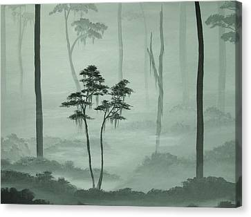Young Tree In An Old Forest Canvas Print by Anna Bronwyn Foley