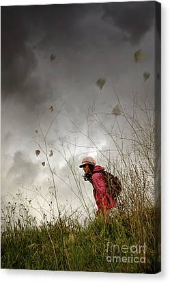 Backpack Canvas Print - Young Walker by Carlos Caetano