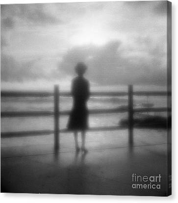 Young Woman By Sea Early Morning Canvas Print by Colin and Linda McKie