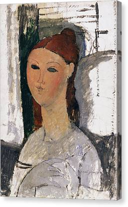 Young Woman, Seated, C.1915 Canvas Print by Amedeo Modigliani