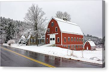 Young's Corner Barn Canvas Print by Benjamin Williamson