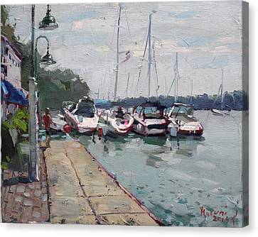 Youngstown Yachts Canvas Print by Ylli Haruni