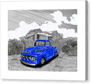 Your 1952 F 100 Pick Up In N M  Canvas Print by Jack Pumphrey