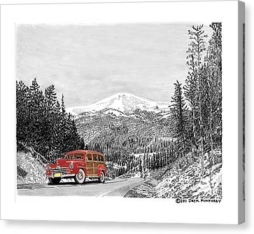 1946 Ford Special Deluxe Woody On Apache Summit Canvas Print by Jack Pumphrey