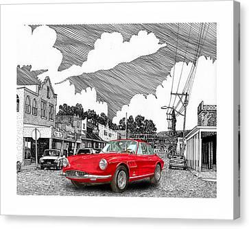 Your Ferrari In Tularosa N M  Canvas Print by Jack Pumphrey