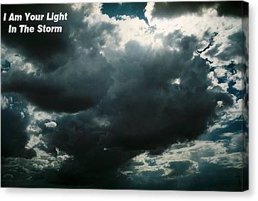 Your Light In The Storm Canvas Print
