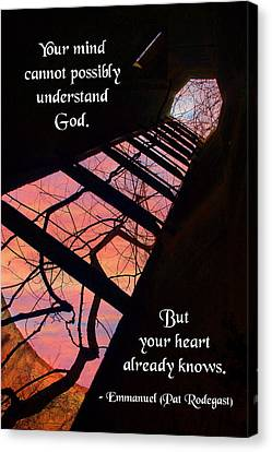 Your Mind Cannot Understand Canvas Print by Mike Flynn