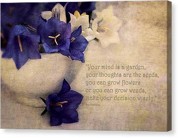 Your Mind Is A Garden... Canvas Print by Maria Angelica Maira
