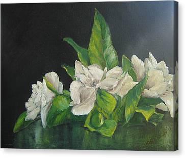 White Gardenia Canvas Print - Your Mother's Gardenias by Susan Richardson