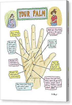 Your Palm Canvas Print by Roz Chast