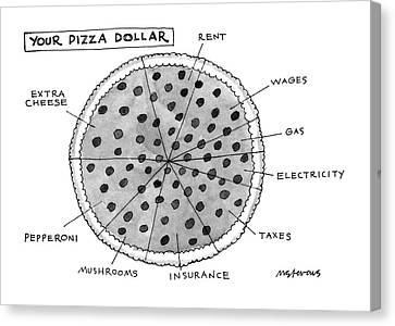 Cheese Canvas Print - Your Pizza Dollar by Mick Stevens