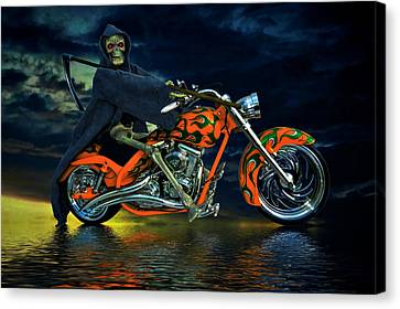 Your Ride Awaits Canvas Print by Steven Agius