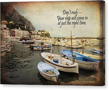 Your Ship Will Come In Canvas Print