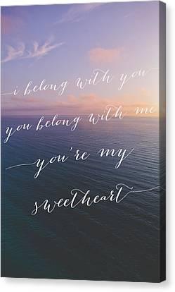 You're My Sweetheart Canvas Print by Ariane Moshayedi