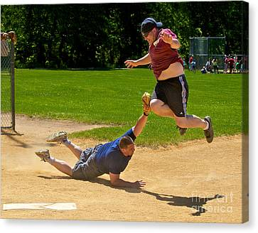 New Ball Park Canvas Print - You're Out by Mark Miller