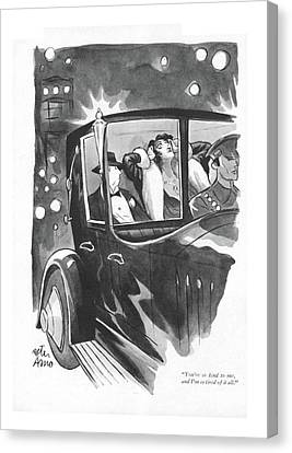 Automobile Canvas Print - You're So Kind by Peter Arno