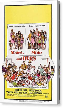 Yours, Mine And Ours, Us Poster Art Canvas Print