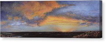 Youtube Video - When The Sky Turns Color Canvas Print by Roena King