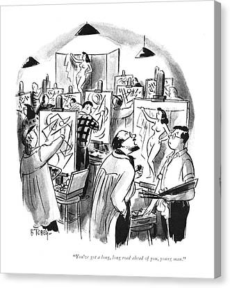 Schoolroom Canvas Print - You've Got A Long by Barney Tobey