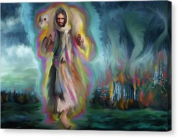 Yshuwh Yhwh Saves Canvas Print