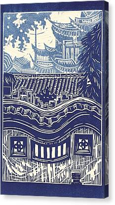 Yu Garden Rooftops Canvas Print by Jennifer Harper