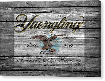 Handcrafted Canvas Print - Yuengling by Joe Hamilton