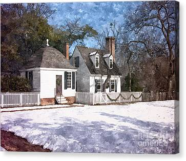 Yule Cottage Canvas Print