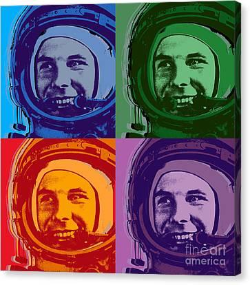Yuri Gagarin  Canvas Print by Jean luc Comperat