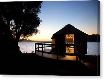 Yurt On Lake Cachuma Canvas Print