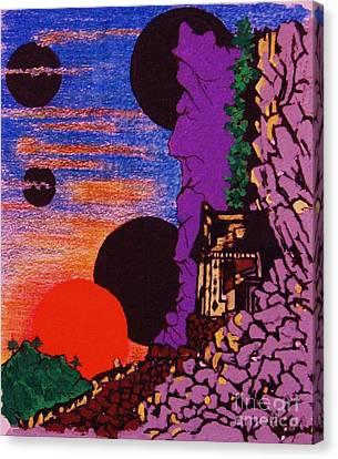 Yuyake Tsuka No Shutsu Canvas Print by Roberto Prusso