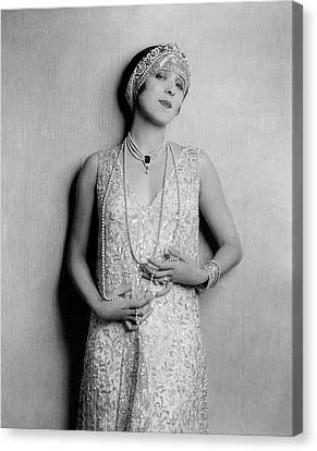 Yvonne D'arle Wearing A Diadem Canvas Print