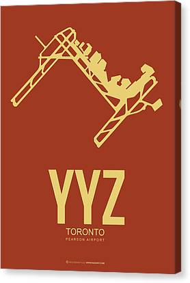 Plane Canvas Print - Yyz Toronto Airport Poster 3 by Naxart Studio