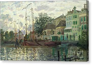 Zaandam The Dike Evening 1871 Canvas Print
