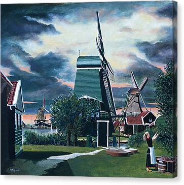Zaanse Schans Canvas Print by Jo King