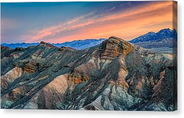 Zabriskie Dawn In Another Direction - Death Valley National Park Photograph Canvas Print by Duane Miller