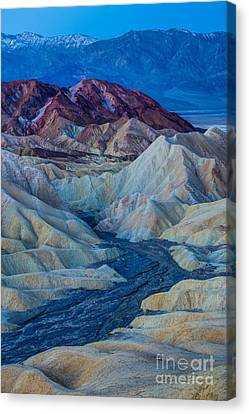 Zabriskie Point Colored Hills Sunrise Canvas Print by Gary Whitton
